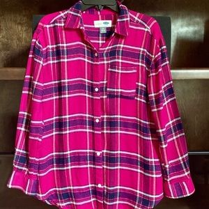Girls flannel shirt size 10/12, gently used